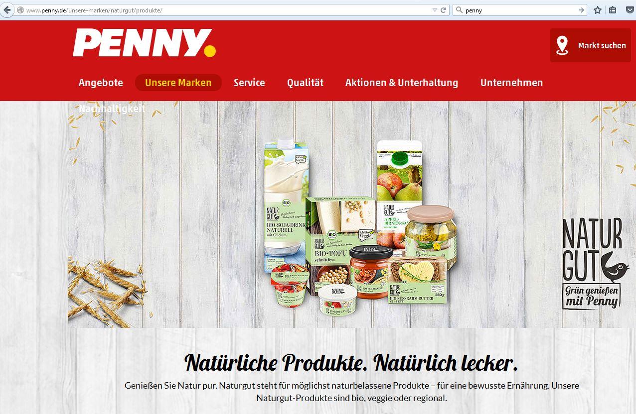 werbung fr naturgut produkte auf pennyde lebensmittelklarheit - Penny Bewerbung