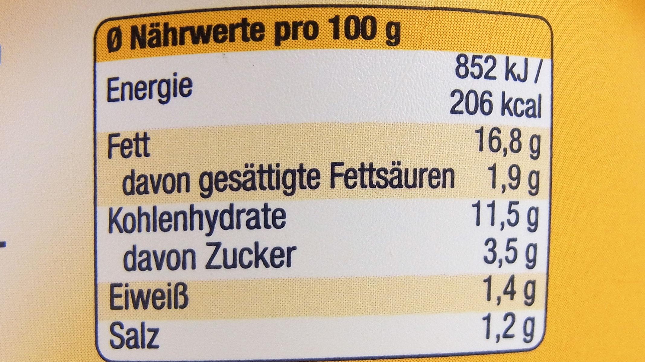 Angaben Kohlenhydrate 10 G Davon Zucker 6 G Lebensmittelklarheit