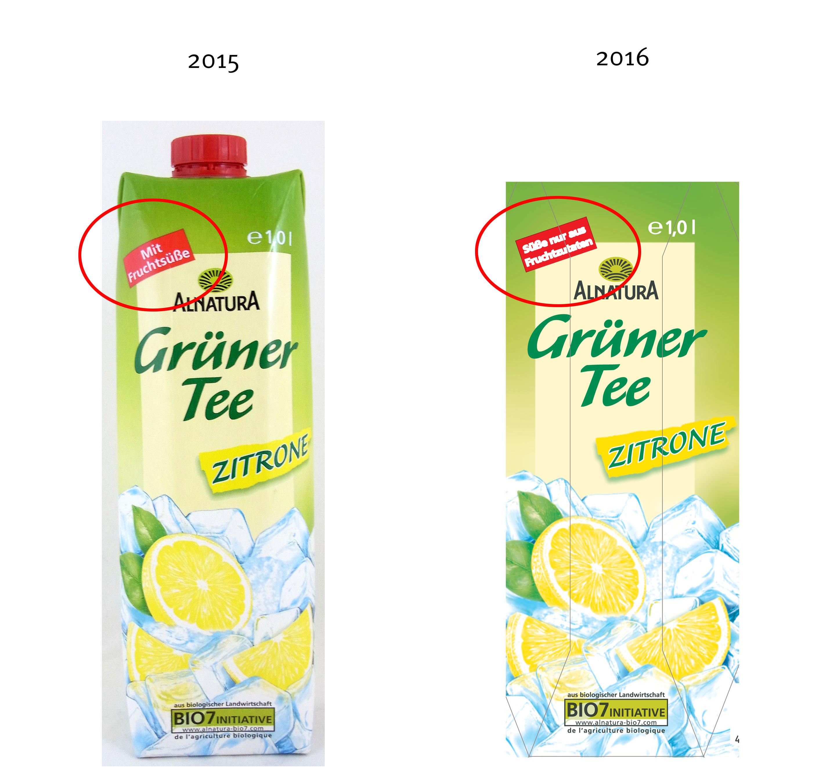 Alnatura Grüner Tee Zitrone Lebensmittelklarheit