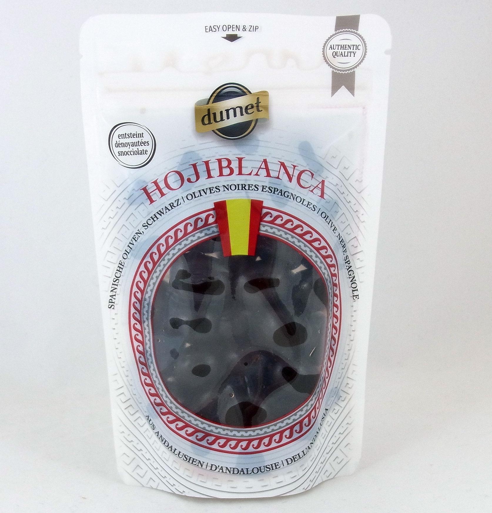 Gemeinsame Dumet Hojiblanca Spanische Oliven, schwarz   Lebensmittelklarheit @IX_05