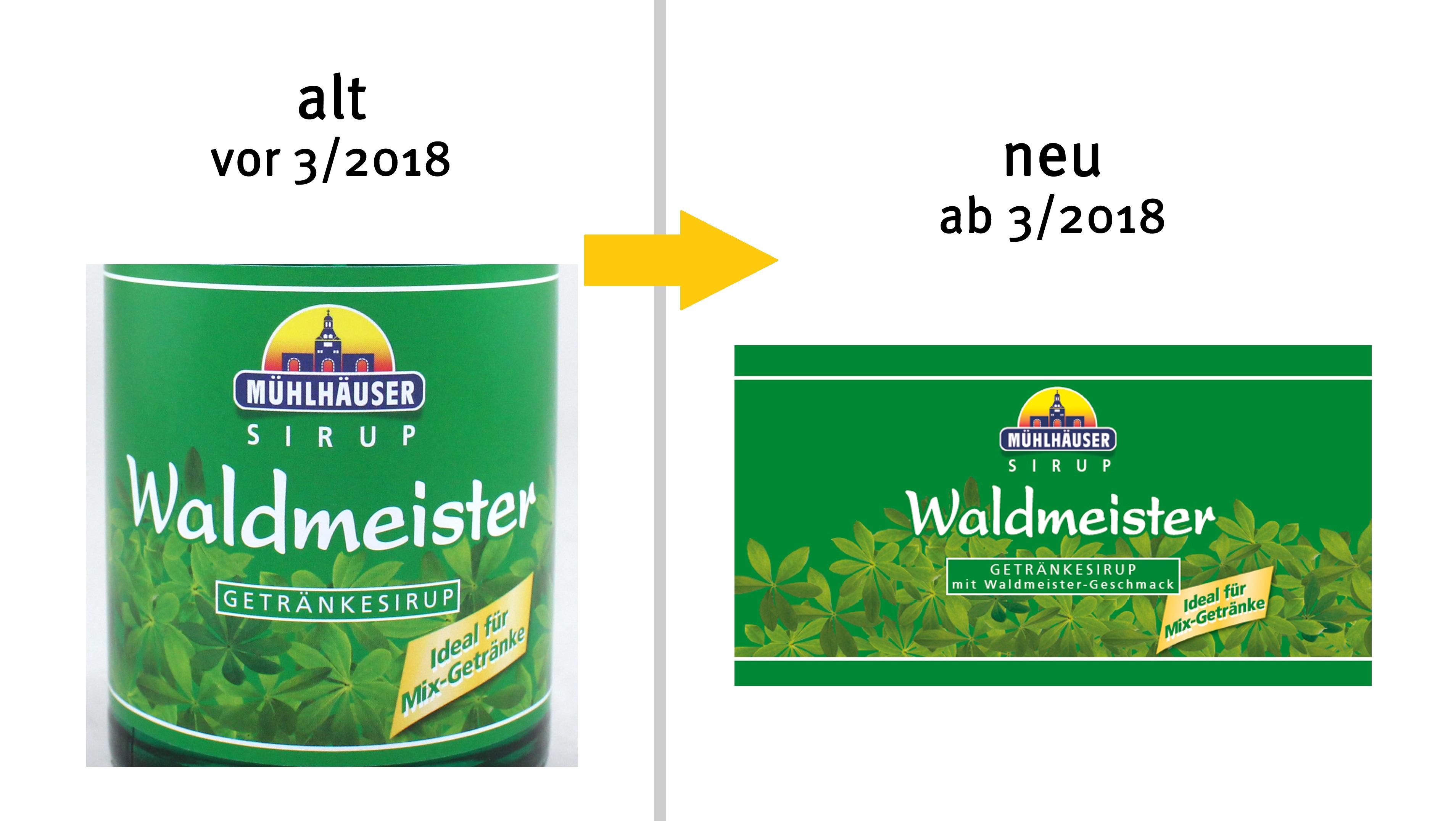 Mühlhäuser Waldmeister Getränkesirup mit Waldmeister-Geschmack ...