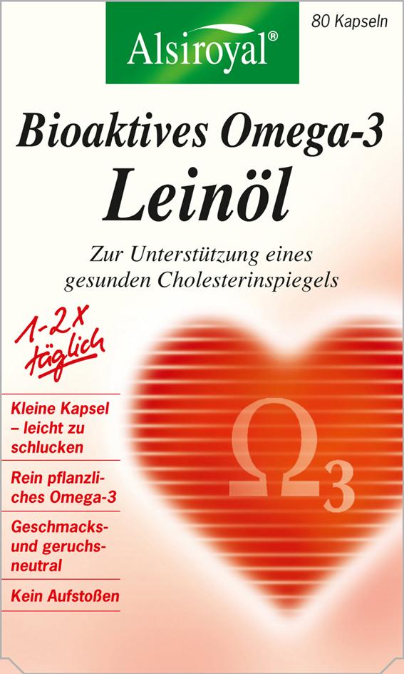 alsiroyal bioaktives omega 3 lein l ehemals bioaktives omega 3 1200 mg lebensmittelklarheit. Black Bedroom Furniture Sets. Home Design Ideas