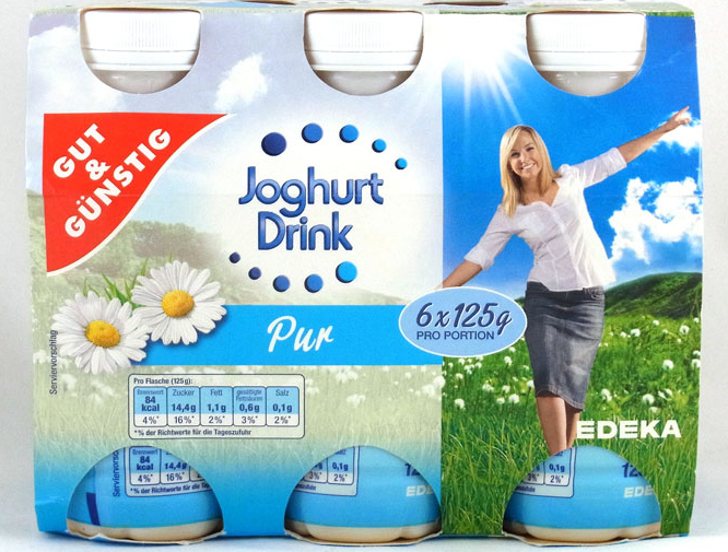 edeka gut g nstig joghurt drink pur lebensmittelklarheit. Black Bedroom Furniture Sets. Home Design Ideas