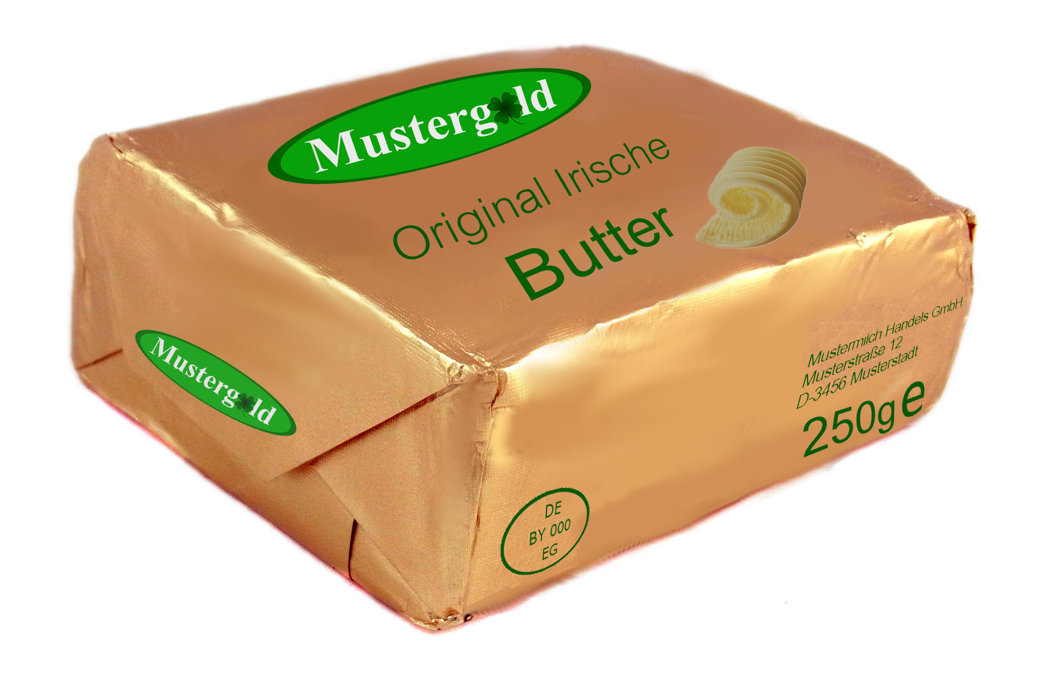 Vorne Land A – hinten Land B, Beispiel Irische Butter ...