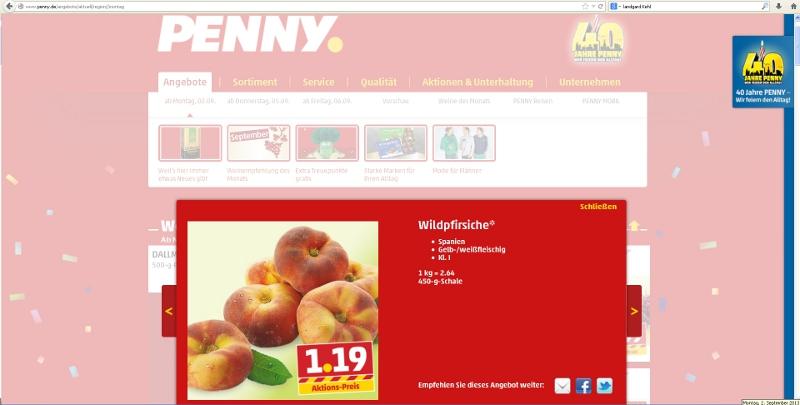 Penny Wildpfirsiche Angebot Auf Pennyde 02092013